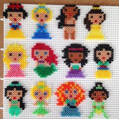 Disney Princess Hama mini beads by bittermus