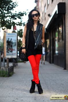 Bright and Bold pants.