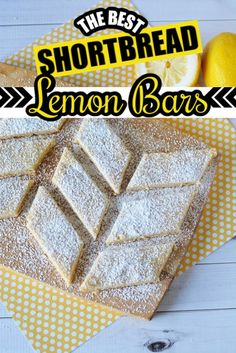 Vegetarian · This shortbread lemon bars recipe is absolutely delicious! And with only 5 ingredients, these shortbread lemon bars are easy to make.