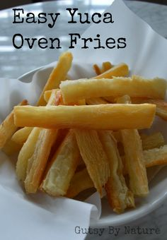 Easy Yuca Oven Fries (AIP) - Gutsy By Nature, clean eating, real food Yuca Recipes, Paleo Recipes, Cooking Recipes, Yucca Root Recipes, Banane Plantain, Comida Boricua, Paleo On The Go, Going Paleo, Aip Diet