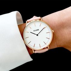 Clean. Crisp. CLUSE What do you think of our La Boheme timepiece in pink?