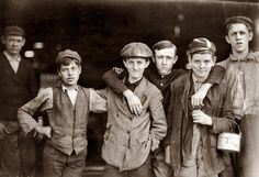 South Bend Mill Boys, Singer Manufacturing Company, South Bend, Indiana, October 1908. Lewis Hind.