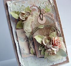 Lovely layered tag card from Dorota_mk