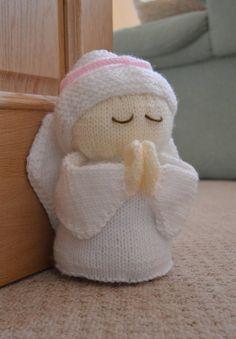 Angel Door Stop knitting pattern