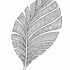 cynthia-cabello-coloring-pages-zentangle-leaf