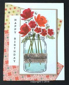 Alex's Creative Corner: Jar of Flowers Birthday