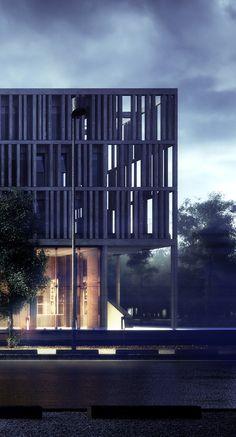 Visualización en Arquitectura: Maison du Batiment d'Aquitaine / Pawel Podwojewski | Plataforma Arquitectura