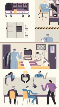 Biocontainment Unit - Owen Davey Illustration