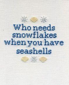 seashells > snowflakes