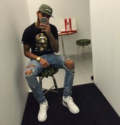 mens fashion looks great. Swag Outfits, Dope Outfits, Trendy Outfits, Fashion Outfits, Guy Outfits, Street Outfit, Street Wear, Urban Fashion, Mens Fashion