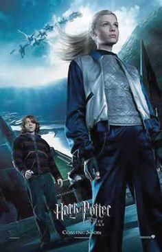 Poster Fleur y Ron. Harry Potter y el caliz de fuego