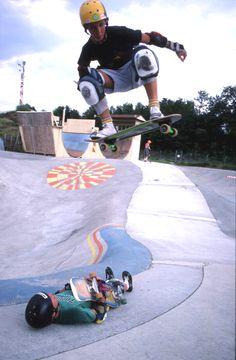Skateboarders show some tricks (1988). | Florida Memory