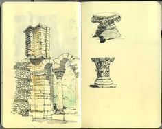 I'd love to do this type of sketching in my travel journals. Someday.
