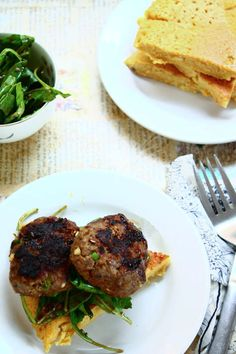 asian style burgers with socca (chickpea flour) bread