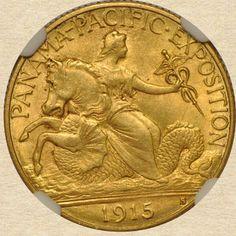 1915-S Gold Panama Pacific Commemorative obverse