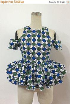 Ankara peplum ~African fashion, Ankara, kitenge, African women dresses, African prints, African men's fashion, Nigerian style, Ghanaian fashion ~DKK