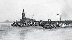 Phare du Port de Sanary-sur-Mer - Dessin L'Oeil d'Édouard © tous droits réservés
