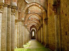 San Galgano Abbey - near Siena,Tuscanyby © Arnaud Bachelard