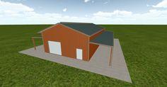 3D #architecture via @themuellerinc http://ift.tt/2bzykzC #barn #workshop #greenhouse #garage #DIY