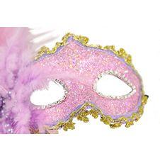 Lyxiga Venetiansk Ögonmask med fjädrar 2