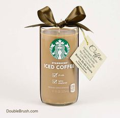 Starbucks Candle Iced Coffee Upcycled