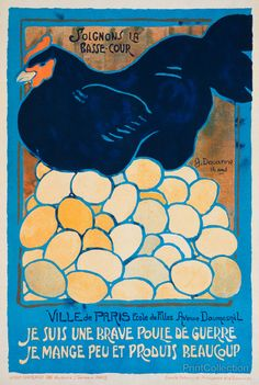 """G. Douanne, """"Let's take care of the poultry. I am a fine war hen. I eat little and produce a lot."""" (France, ca. 1914-1918)"""