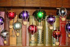 Unique Steampunk Hot Air Balloon Christmas Decoration, Handmade, RED. £3.50, via Etsy.