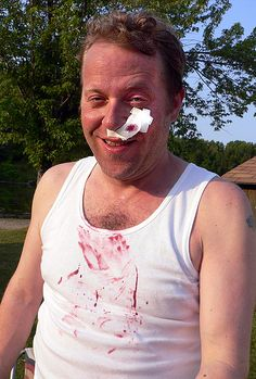 Mike Wilmot after the shave scene by gagala, via Flickr