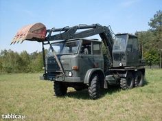Mutant Back-Hoe - Military Tractor - Eastern Europe, Engineers, Hoe, Cars And Motorcycles, Military Vehicles, Tractors, Classic Cars, Nostalgia, Polish