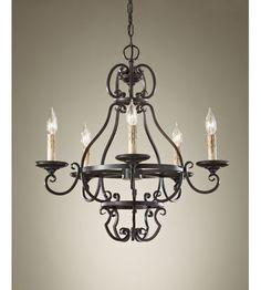 Feiss Barnaby 5 Light Chandelier in Liberty Bronze F2715/5LBR #feiss #murrayfeiss #lightingnewyork #lighting