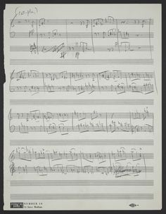 "Leonard Bernstein, manuscript for ""The Rumble,"" West Side Story"