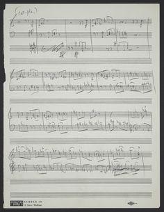 "Leonard Bernstein, manuscript for ""The Rumble,"" West Side Story"