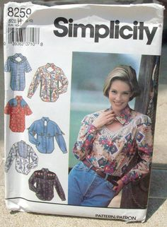 1992  Uncut Simplicity Pattern 8259 Misses by lovelylovepatterns, $4.00