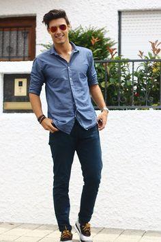 Calça jeans masculina com camisa social! Como usar   8ca86828921