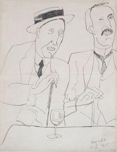 Cafe Royal, 1915 by Nina Hamnett (British 1890–1956)