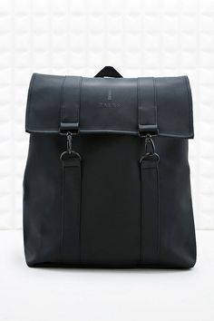 Rains Messenger Backpack In Black made by Rains sold at Urban Outfitters for Women