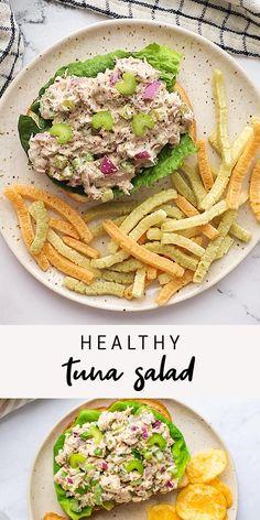 Healthy Tuna Recipes, Healthy Desayunos, Healthy Tuna Salad, Healthy Meal Prep, Healthy Tuna Sandwich, Low Carb Recipes, Tuna Sandwich Recipes, Salad Recipes, Healthy Eating