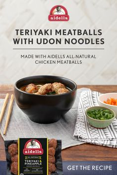 Try this delicious twist on Japanese cuisine made with all-natural Aidells Teriyaki & Pineapple Meatballs. Goulash Recipes, Crockpot Recipes, Soup Recipes, Cooking Recipes, Healthy Recipes, Salmon Recipes, Asian Recipes, Bloody Mary Recipes, Pulled Pork Recipes