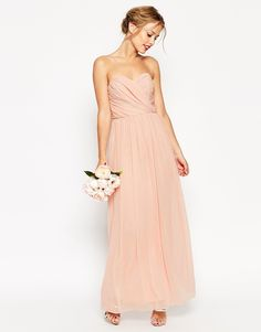 Image 4 of ASOS WEDDING Bandeau Maxi Dress