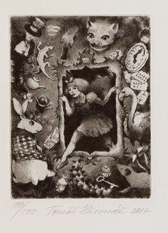 Alice in Wonderland. Bookplate by Tomas Hrivnac