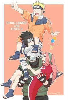 Naruto Team 7, Naruto And Sasuke, Anime Naruto, Naruto Comic, Naruto Cute, Naruto Shippuden Sasuke, Naruto Girls, Sakura And Sasuke, Boruto