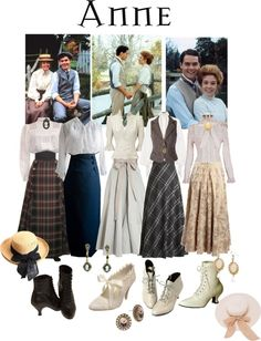 anne of green gables costume ideas Anne Of Green Gables, Edwardian Fashion, Vintage Fashion, Modern Victorian Fashion, Vintage Dresses, Vintage Outfits, Anne Shirley, Look Retro, Halloween Disfraces
