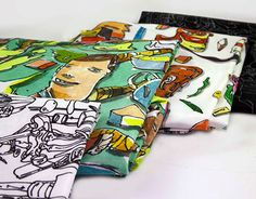 4 artworks, excellent printed on a high quality fabric. New Work, Digital Prints, Behance, Leggings Fashion, Gallery, Check, Fashion Art, Illustration, Artist
