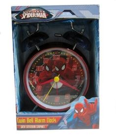 Marvel Ultimate Spiderman Twin Bell Alarm Clock with Lenticular Graphics >>> Read more reviews of the product by visiting the link on the image.Note:It is affiliate link to Amazon.