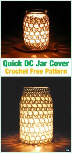 Crochet Quick DC Jar Cover Free Pattern By Annemarie Benthem