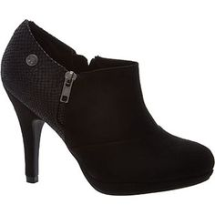 £15 Black Ankle Heeled Boots
