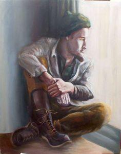 Calmada espera, 2014 Oleo sobre lienzo, 92 cm x 116 cm Calmly wait, 2014 Oil on canvas, 92 cm x 116 cm