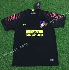 466212a0c Goalkeeper 2018-19 Atletico Madrid Black Thailand Soccer Jersey AAA