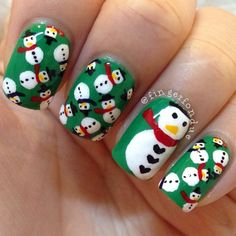 Christmas by fingerfondue #nail #nails #nailart