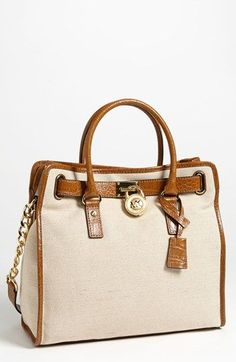 I WANT THIS!!!!!!!MICHAEL Michael Kors 'Hamilton - Large' Canvas Tote available at #Nordstrom